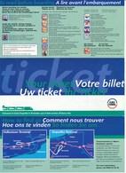 Frankreich Eisenbahn Fahrkarte 1998 EuroTunnel Frankreich => Grossbritannien Auto - Spoorwegen