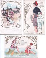 Lot De 3 CPA - Illustration Par MARS  La Mer Et Son Public  Saisonnettes - Altre Illustrazioni