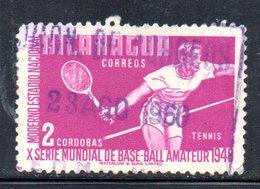 APR1935 - NICARAGUA 1949 , Yvert N. 747  Usato (2380A)  Tennis - Nicaragua
