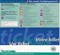 Frankreich / Grossbritannien Eisenbahn Fahrkarte 1999 EuroTunnel Frankreich = Grossbritannien Hin- Und Rückfahrt - Spoorwegen