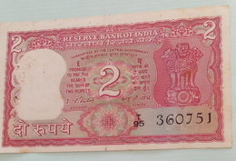 Inde  India 2 Rupees..I G Patel..360751 - India