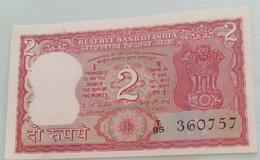 Inde  India 2 Rupees..I G Patel..360757 - India