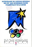 Albertville (73) - Autocollant Affiche Officielle XVIè JO D'Hiver Albertville Et Savoie - Albertville