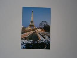 75 - PARIS SOUS LA NEIGE * LA TOUR EIFFEL *  PHOTO DE ANTONIO CARRARA - Eiffelturm