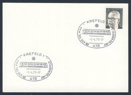 Deutschland Germany 1973 Karte Card - Tag Der DB Aw + GV Krefeld - Deutsche Bahn / German Railways - Treinen