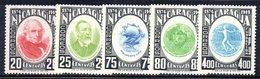 APR1939 - NICARAGUA 1950 , Serie Yvert N. 749/753  */*  (2380A)  Upu - Nicaragua