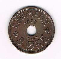 //  DENEMARKEN  5 ORE  1927  HCN - GJ - Danemark