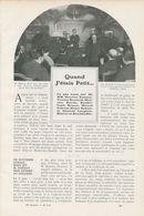Quand J`étais Petit /  Article , Pris D`un Magazine / 1911 - Bücher, Zeitschriften, Comics