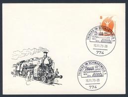 Deutschland Germany 1973 Karte Card - 100 Jahre Schwarzwaldbahn 1873-1973, Triberg Im Schwarzwald / Railway Linie - Treinen