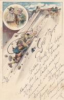 Gruss Aus Den Bergen - Signiert Arth.Thiele -1900      (A-100-71013) - Souvenir De...