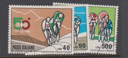 Italy Republic S 1045-1047 1967 50th Bicycle Tour Of Italy,used - 1961-70: Used
