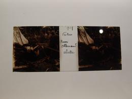 Photo Plaque De Verre Stéréoscopique Guerre 14-18 Verdun Avion Allemands Abattu - Diapositiva Su Vetro