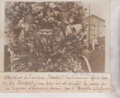 DE L'AVIATEUR NIEUPORT LA COURONNE  OFFERTE PAR LE FILS NIEUPORT PÈRE  18*13CM Maurice-Louis BRANGER PARÍS (1874-1950) - Aviación