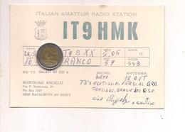 M8963 SICILIA RACALMUTO AGRIGENTO RADIOAMATORE VIAGGIATA IN BUSTA - Italia
