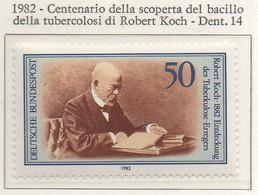 PIA - GERMANIA : 1982 : Centenario Della Scoperta Del Bacillo Della Tubercolosi Di Robert Koch - (Yv 954) - Malattie