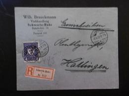 Deutsches Reich Mi. 202 Als EF Auf R Brief Schwerte 3.6.1922 Nach Haltingen/baden - Deutschland
