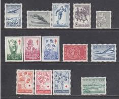 Finland 1958 - Year Set Complete, Mi-Nr. 488/501, MNH** - Finland