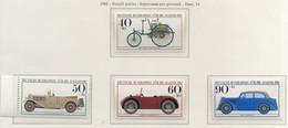 PIA - GERMANIA  - 1982  :  Sovrattassa Per La Gioventù - Veicoli Storici  -  (Yv  955-58) - Automobili