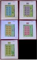 JERSEY 2000 - CENTENARIO DE MOYE GOLF CLUB - SERIE DE 5 SELLOS + 5 MINI HOJAS - YVERT Nº 1021-1025 - Jersey