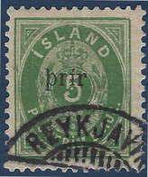 Islande 1897 N°19a Type II Oblitéré ! Signé Diena - Neufs