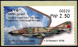 ISRAEL 2019 - Israeli Air Force Fighter Jets - F-4E PHANTOM II - Be'er Sheva ATM # 220 Label - MNH - Militaria
