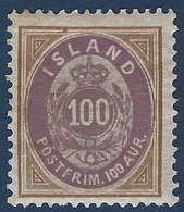 Islande 1897 N°17* Neuf Tres Frais TTB - Nuevos