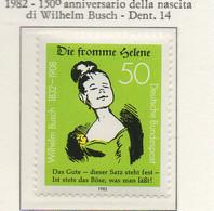 PIA - GERMANIA : 1982 : 150° Anniversario Della Nascita Del Disegnatore, Poeta E Filosofo Wilhelm Busch - (Yv 961) - Malattie