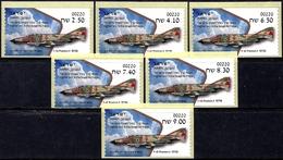 ISRAEL 2019 - Israeli Air Force Fighter Jets - F-4E PHANTOM II - 6 Be'er Sheva ATM # 220 Labels - MNH - Militaria