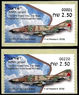ISRAEL 2019 - Israeli Air Force Fighter Jets - F-4E PHANTOM II -  # 001 & # 220 ATM Labels - MNH - Militaria