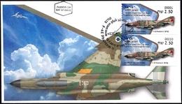 ISRAEL 2019 - Israeli Air Force Fighter Jets - F-4E PHANTOM II -  # 001 & # 220 ATM Labels - FDC - Militaria