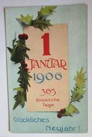 """""""Neujahr, Jahreszahl"""" 1906 ♥  - New Year"""