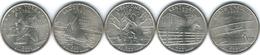 United States Of America - 2001 - Quarter Dollar - New York, North Carolina, Rhode Island, Vermont, Kentucky - 1999-2009: State Quarters