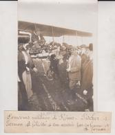 1911 CONCOURS MILITAIRE A REIMS FISHER FARMAN SA FEMME ET M FARMAN  18*13CM Maurice-Louis BRANGER PARÍS (1874-1950) - Aviación
