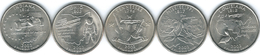 United States Of America - 2002 - Quarter Dollar - Tennessee, Ohio, Louisiana, Indiana, Mississippi - 1999-2009: State Quarters