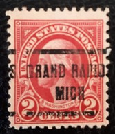 USA Scott # 554, Precancel Grand Rapid, Michigan, 1923 - Prematasellado
