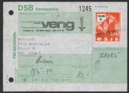 Denmark, 1977. DSB Banepakke O.S.J.S., Railway Stamp - Danimarca
