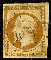 RARE NAPOLEON N°9a 10c Bistre-Brun Oblit Losange PC 1099 Cote 1000€ PETIT AMINCI - 1852 Louis-Napoleon