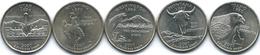 United States Of America - 2007 - Quarter Dollar - Montana, Washington, Idaho, Wyoming, Utah - 1999-2009: State Quarters