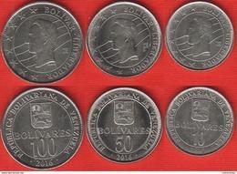 Venezuela Set Of 3 Coins: 10 - 100 Bolivares 2016 UNC - Venezuela
