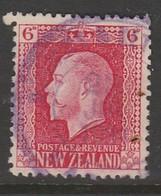 New Zealand 1915 Definitives - King George V, 1865-1936  6 P Carmine SW 153 O Used - 1907-1947 Dominion