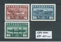 SATZ ANK. 639 - 641 Postfrisch Siehe Scan - 1918-1945 1. Republik
