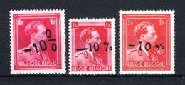 724a/724c MNH** 1946 - Z.M. Koning Leopold 3 - 1946 -10%
