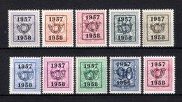 PRE666/675 MNH** 1957 - Cijfer Op Heraldieke Leeuw Type E - REEKS 50 - Typo Precancels 1951-80 (Figure On Lion)