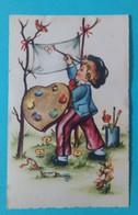 Carte Enfants Peintre Editeur MD N°2875 - Portraits