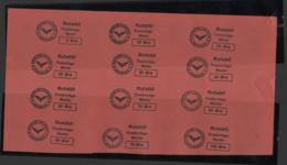 Denmark, Rutebil, Ostjaellandske Jernbane, Proof Sheet, Railway Stamp, MNH - Danimarca