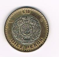 //  MEXICO  10  PESOS 2004  MO - Mexique