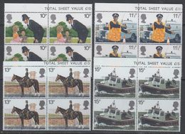 Great Britain 1979 London Police 4v Bl Of 4 ** Mnh (43603A) - 1952-.... (Elizabeth II)
