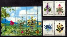 Uzbekistan 2012 / Flowers MNH Blumen Flores / C10501  30-33 - Vegetales