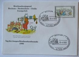 Wilhelm Busch Max Und Moritz 1990, Witwe Bolte Mit Spitz Und Hühner (57261) - Kind & Jugend