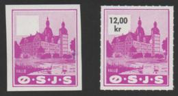 Denmark, O.S.J.S. Jernbane, Proof, Railway Stamp - Danimarca